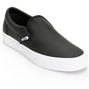 Vans Classic Perforated Leather Asher Sneakers